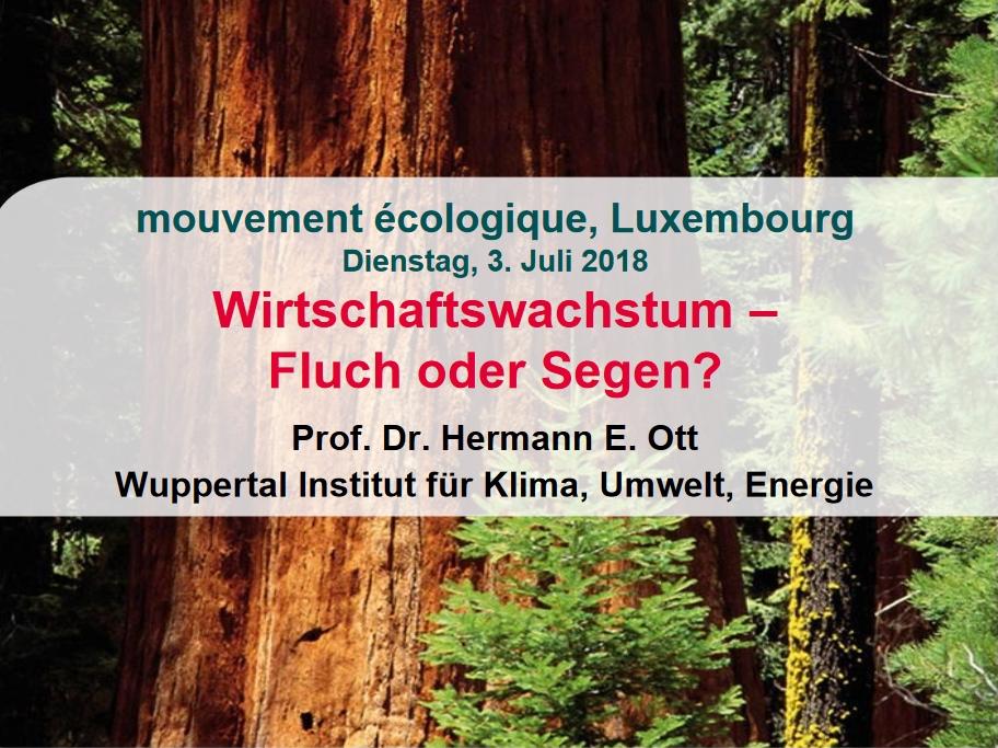 PP-Präsentation mouvement écologique in Luxemburg